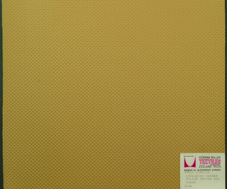 Vinyl-coated cotton knit in tan, embossed in an all-over pattern of small circles. Number 2156.