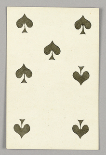 """Seven of Spades from Set of """"Jeu Imperial–Second Empire–Napoleon III"""" Playing Cards."""