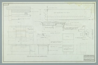Drawing, Design for Executive Desk Table and Side Storage Unit, July 2, 1958