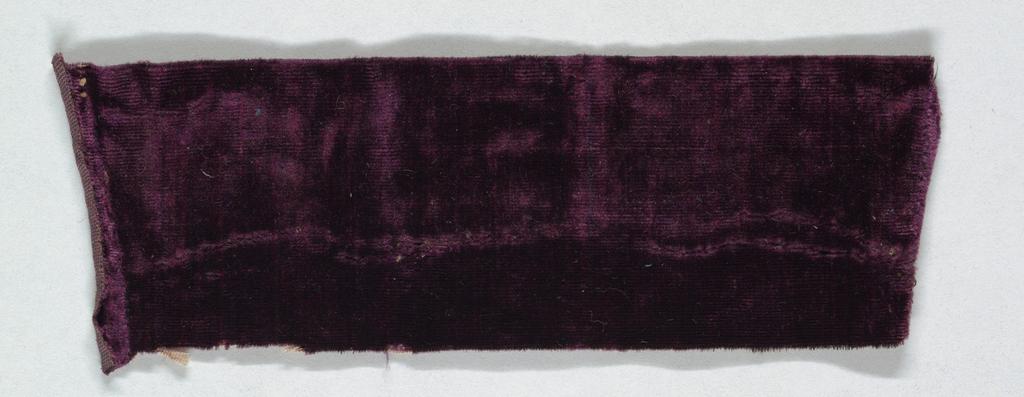 Purple fragment, unpatterned.