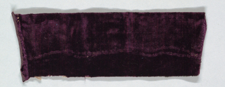 Purple fragment, unpatterned.