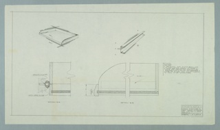 Drawing, Design for Tray, December 6, 1957