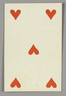 """Five of Hearts from Set of """"Jeu Imperial–Second Empire–Napoleon III"""" Playing Cards."""