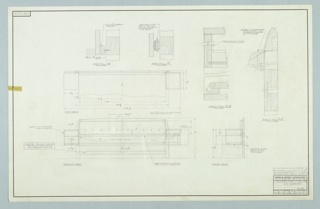 Drawing, Design for Duo Headboard, December 10, 1957