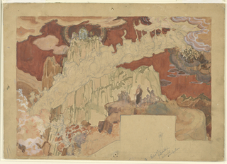 """Drawing, """"Quest for the Fountain of Youth,"""" Mural Study for Radio City Music Hall"""