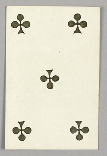 """Five of Clubs from Set of """"Jeu Imperial–Second Empire–Napoleon III"""" Playing Cards"""