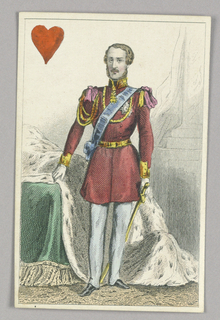 """Prince Albert, King of Hearts from Set of """"Jeu Imperial–Second Empire–Napoleon III"""" Playing Cards."""