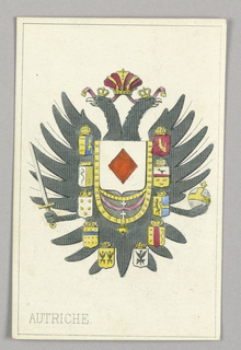 """Austria, Ace of Diamonds from Set of """"Jeu Imperial–Second Empire–Napoleon III"""" Playing Cards."""