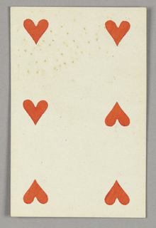 "Six of Hearts from Set of ""Jeu Imperial–Second Empire–Napoleon III"" Playing Cards."