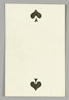 """Two of Spades from Set of """"Jeu Imperial–Second Empire–Napoleon III"""" Playing Cards."""