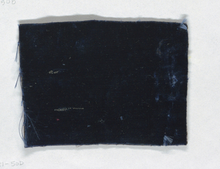 Unpatterned blue fragment.