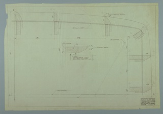 Drawing, Design for Large Dining Table, March 14, 1958