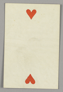 """Two of Hearts from Set of """"Jeu Imperial–Second Empire–Napoleon III"""" Playing Cards."""