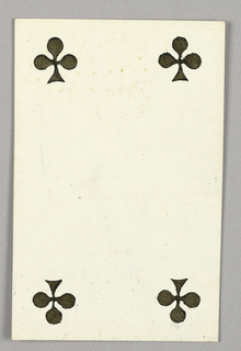 """Four of Clubs from Set of """"Jeu Imperial–Second Empire–Napoleon III"""" Playing Cards."""