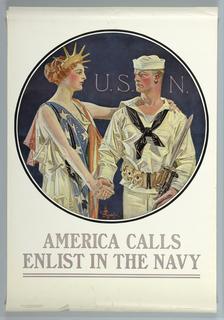 Poster, America Calls, U.S. Navy