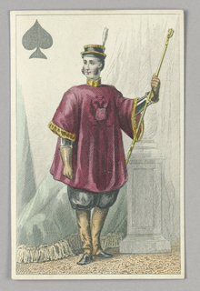 "Russian Guard, Jack of Spades from Set of ""Jeu Imperial–Second Empire–Napoleon III"" Playing Cards."