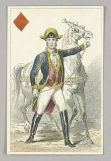"Habsburg Horseman, Jack of Diamonds from Set of ""Jeu Imperial–Second Empire–Napoleon III"" Playing Cards."