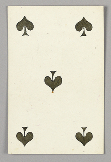 """Five of Spades from Set of """"Jeu Imperial–Second Empire–Napoleon III"""" Playing Cards."""