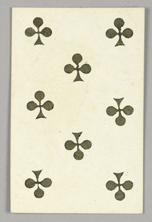"""Eight of Clubs from Set of """"Jeu Imperial–Second Empire–Napoleon III"""" Playing Cards."""