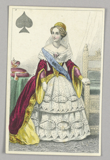 "Marie, Tzarina of Russia, Queen of Spades from Set of ""Jeu Imperial–Second Empire–Napoleon III"" Playing Cards."