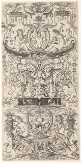 "Print, Ornament Panel Inscribed ""Victoria Augusta"""