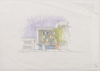 Drawing, Step Up on Fifth: Santa Monica, CA: Sketch of Elevation