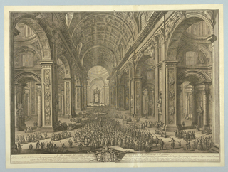 Print, View of Interior of St. Peter's, Rome, 1710-1782