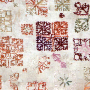 Scattered motifs of geometrical forms and corners.  Inked on dealer's number: 446/180 upper right.  Another undecipherable number in upper left.