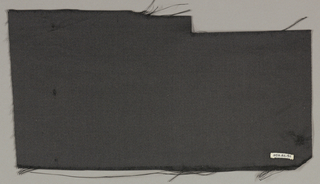 Length of solid black satin fabric.