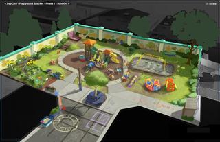 Concept Art, Sunnyside Playground, Toy Story 3, 2010