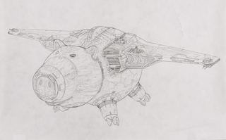 Concept Art, Hamm Ship, Toy Story 3, 2010