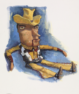 Concept Art, Early Woody, Toy Story, 1995