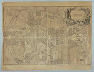 Print, Plan of Gardens at Versailles, 1746