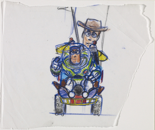 Concept Art, Woody and Buzz, Toy Story, 1995