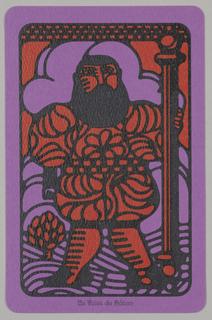 "Card, ""Le Valet de Baton"" from Linweave Tarot Deck, 1967"