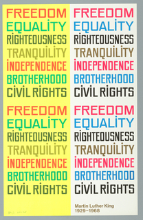 Poster, Freedom/Equality