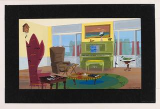 Concept Art, Carl's Living Room, Up, 2009