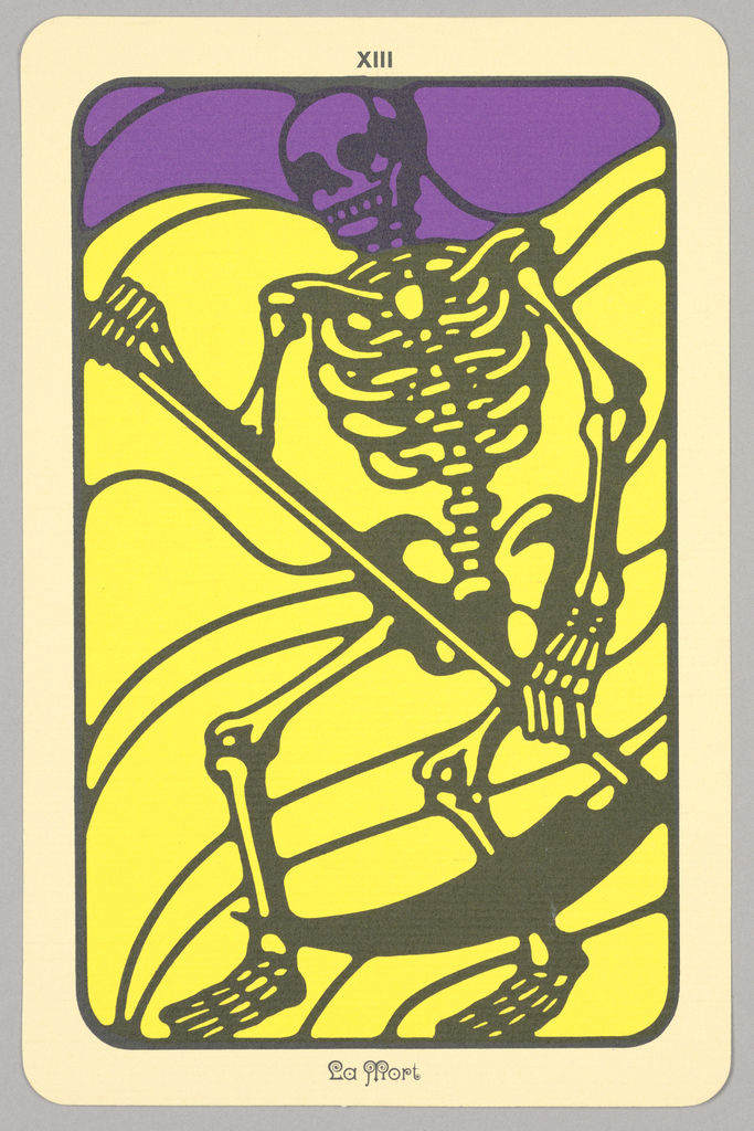 "Card, ""XIII, La Mort"" from Linweave Tarot Deck, 1967"
