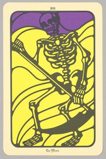 "Card, ""XIII, La Mort"" from Linweave Tarot Deck, 1967"
