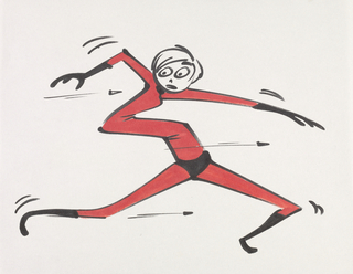 Concept Art, Elastigirl Gag, The Incredibles, 2004
