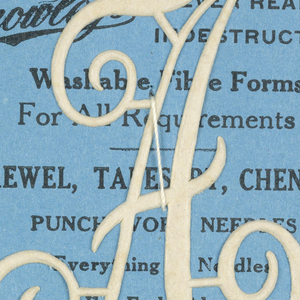 """Alphabet embroidery form: letter """"A""""."""
