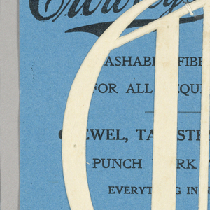 """Alphabet embroidery form: No. 206, """"Old English"""" Letters. The letter O mounted on paper."""
