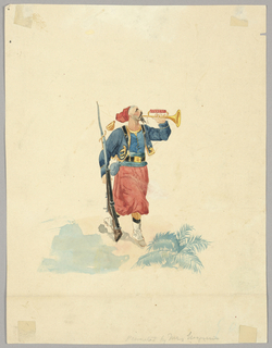 Drawing, Costume of a French Turco
