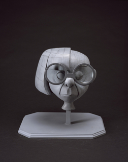 Digitizable Head Maquette, Edna Mode, The Incredibles, 2004