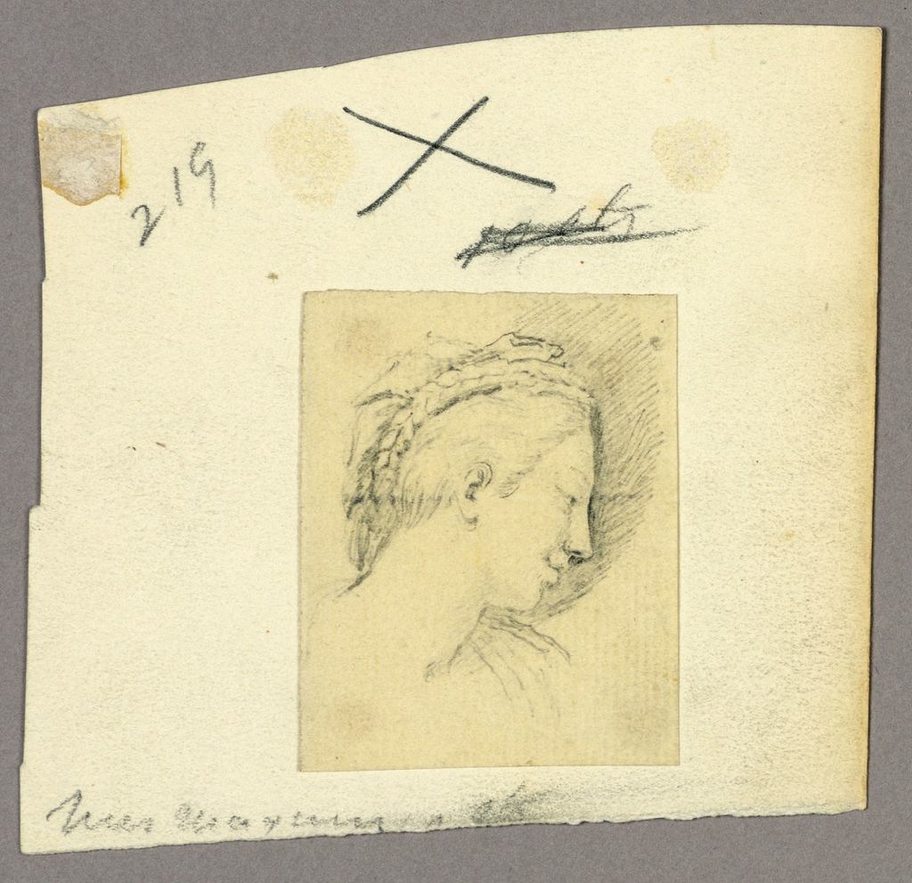 Drawing, Sketch of a person viewed in profile, 16th-20th century