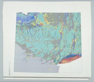 Map, Map Glacier>Hudson