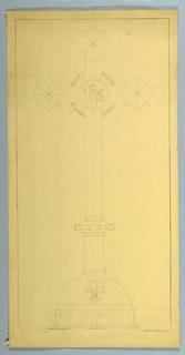 Drawing, Ecclesiastical Ornament Drawing: Cross, 1888–1936