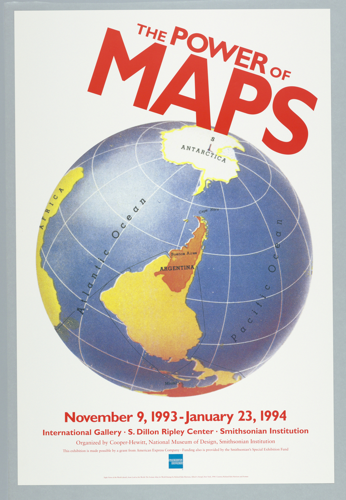 Poster, maps of the world