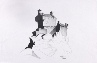 Concept Art, Castle Dunbroch, Brave, 2012