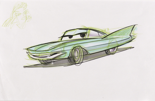 Concept Art, Flo, Cars, 2006